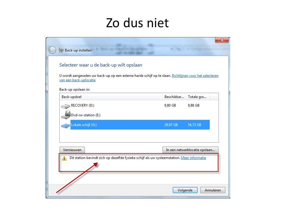 Conclusie Voor het veilig stellen van de Windows- systeem bestanden en documenten is het Windows back-up programma geschikt.