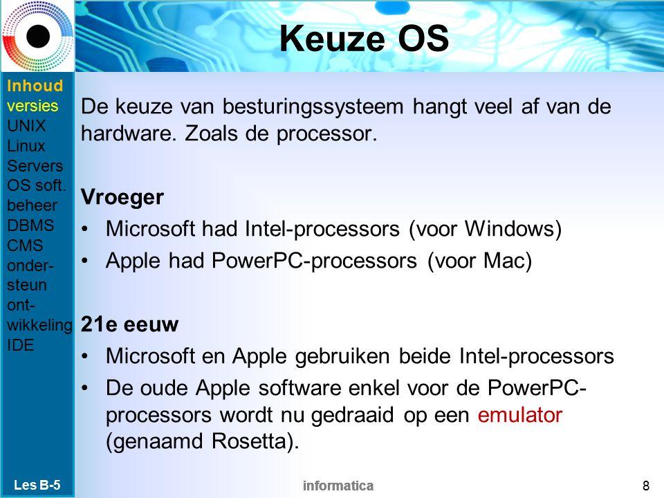 informatica Systeemontwikkelingsprogramma's Alle programma's die gebruikt worden voor het ontwikkelen van andere systeemsoftware of applicatiesoftware.