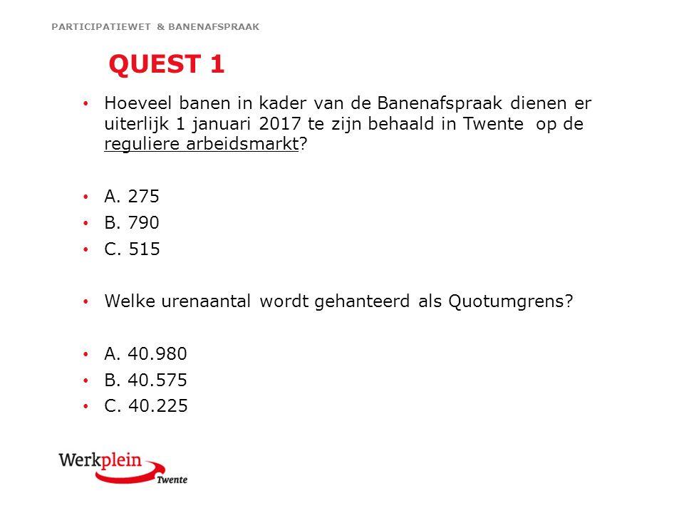 Hoeveel banen in kader van de Banenafspraak dienen er uiterlijk 1 januari 2017 te zijn behaald in Twente op de reguliere arbeidsmarkt.