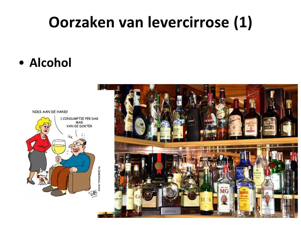 Oorzaken van levercirrose (1) Alcohol