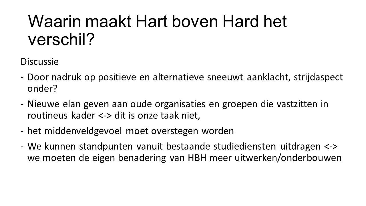 Waarin maakt Hart boven Hard het verschil.