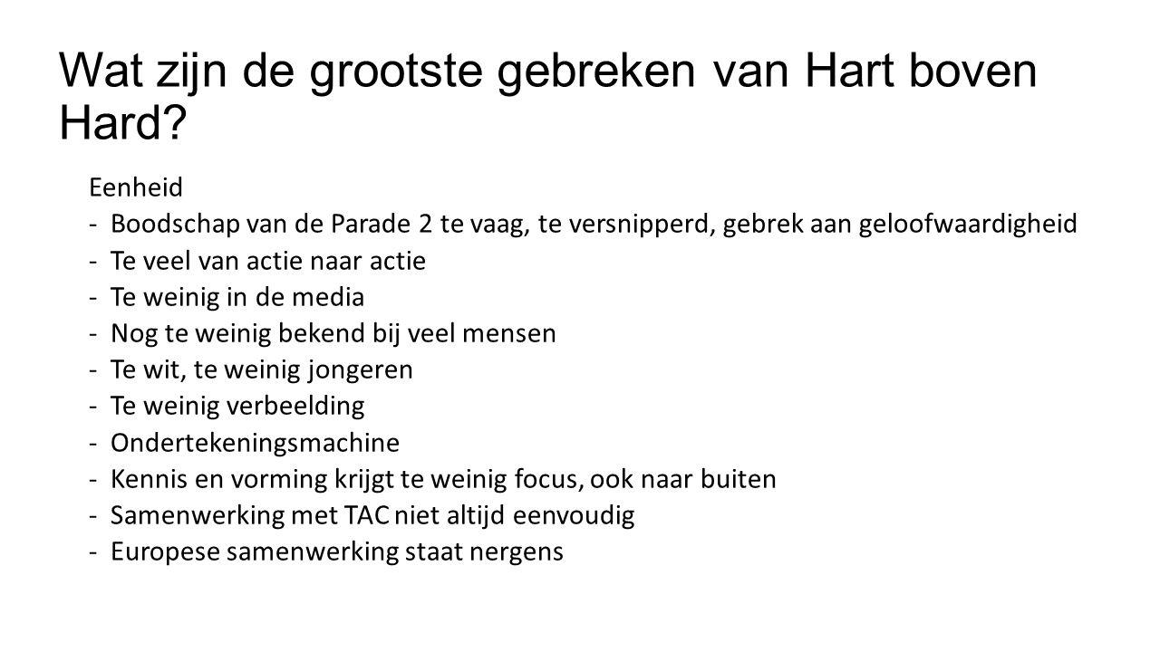 Wat zijn de grootste gebreken van Hart boven Hard.