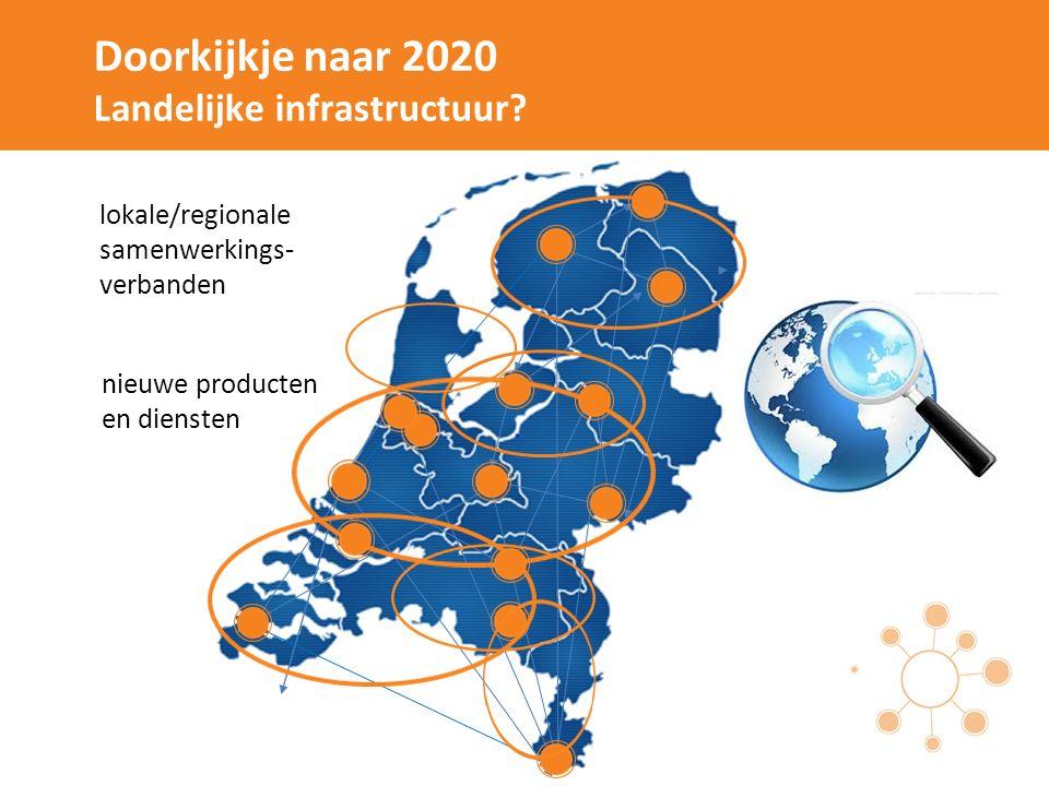 Doorkijkje naar 2020 Landelijke infrastructuur? lokale/regionale samenwerkings- verbanden nieuwe producten en diensten
