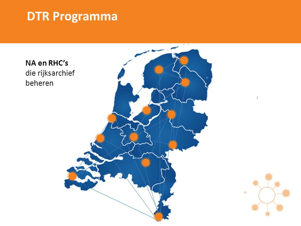 DTR Programma NA en RHC's die rijksarchief beheren