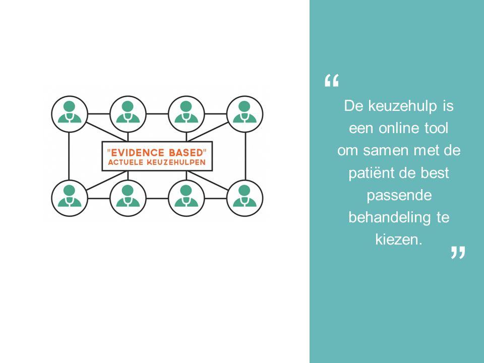De keuzehulp is een online tool om samen met de patiënt de best passende behandeling te kiezen.