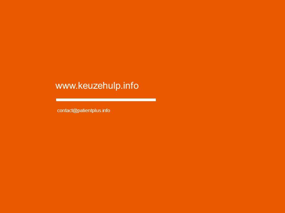 www.keuzehulp.info contact@patientplus.info