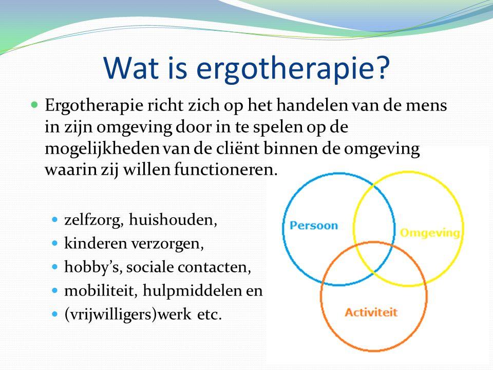 Wat is ergotherapie.