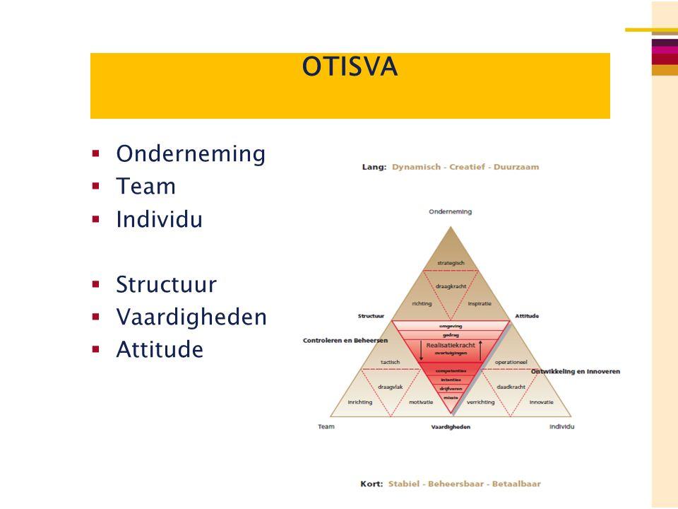 OTISVA  Onderneming  Team  Individu  Structuur  Vaardigheden  Attitude