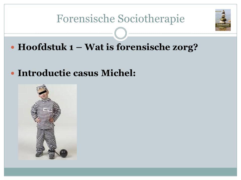 Forensische Sociotherapie Hoofdstuk 1 – Wat is forensische zorg? Introductie casus Michel: