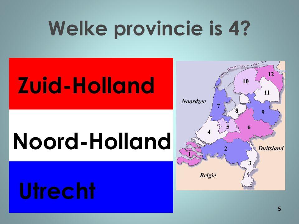 Welke provincie is 5? 6 Gelderland Overijssel Utrecht