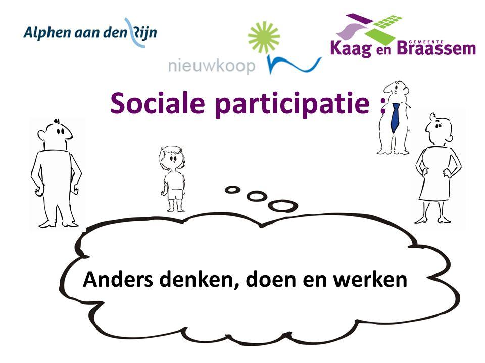 Sociale participatie : Anders denken, doen en werken