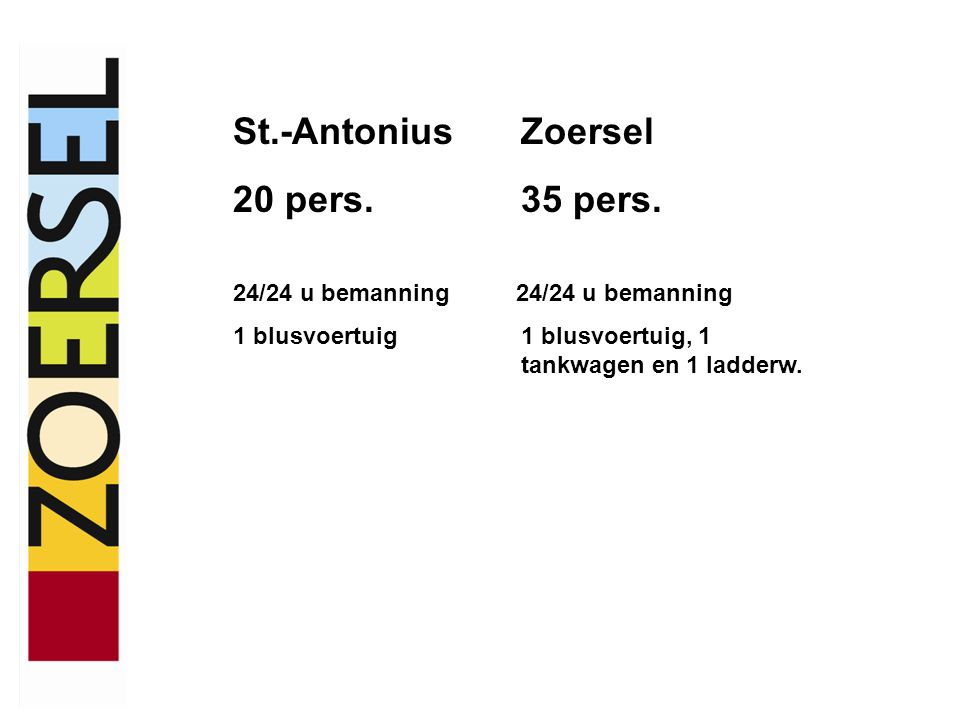 St.-AntoniusZoersel 20 pers.35 pers.