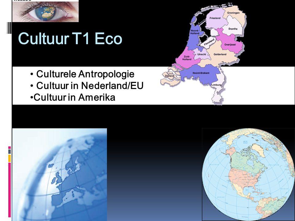 Cultuur T1 Eco Culturele Antropologie Cultuur in Nederland/EU Cultuur in Amerika