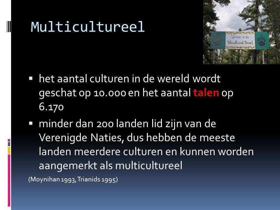 Multicultureel  het aantal culturen in de wereld wordt geschat op 10.000 en het aantal talen op 6.170  minder dan 200 landen lid zijn van de Verenig