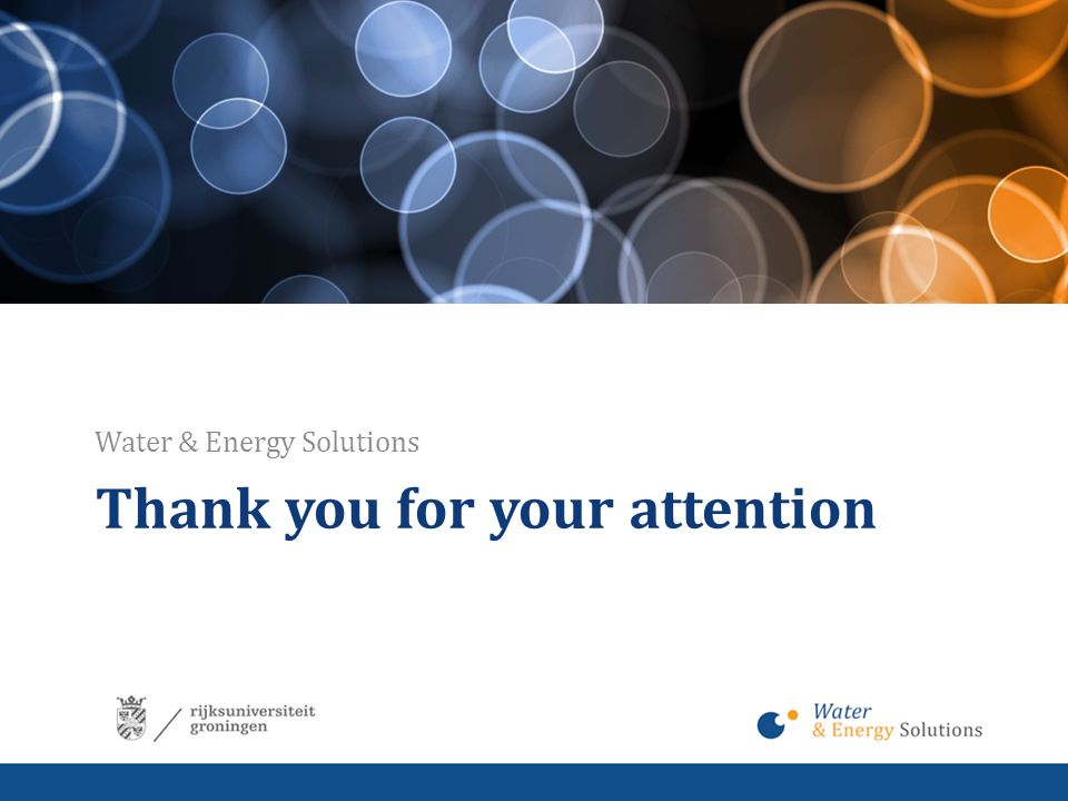 Thank you for your attention Water & Energy Solutions