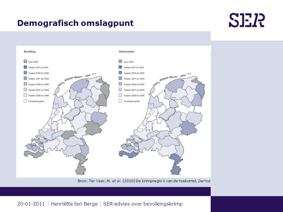 20-01-2011 | Henriëtte ten Berge | SER-advies over bevolkingskrimp Opgave  Benoemen  Begeleiden  Benutten