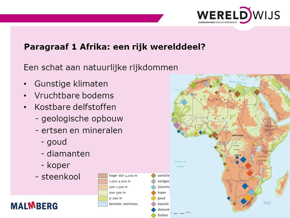 Genoeg ruimte en een jonge bevolking 54 landen - 40 groter dan Nederland 1 miljard mensen - jonge bevolking - helft jonger dan 25 jaar Veel verschillen in welvaart Ten noorden van de Sahara: Arabisch Ten zuiden van de Sahara: zwart Grensgebied: Sahel - tegenstellingen tussen noord en zuid - Sudan - Nigeria