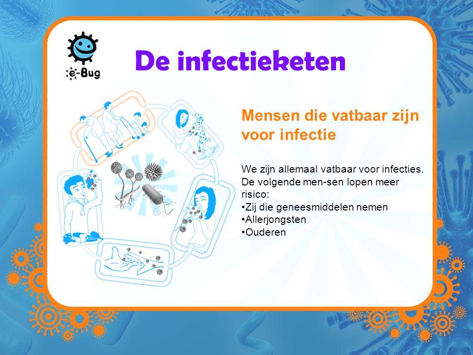 Mensen die vatbaar zijn voor infectie We zijn allemaal vatbaar voor infecties.
