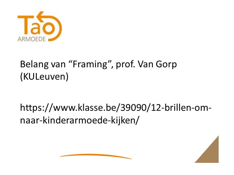 Belang van Framing , prof.