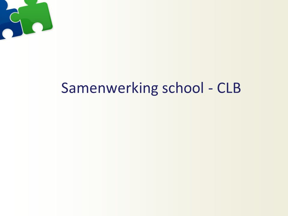 Samenwerking school - CLB