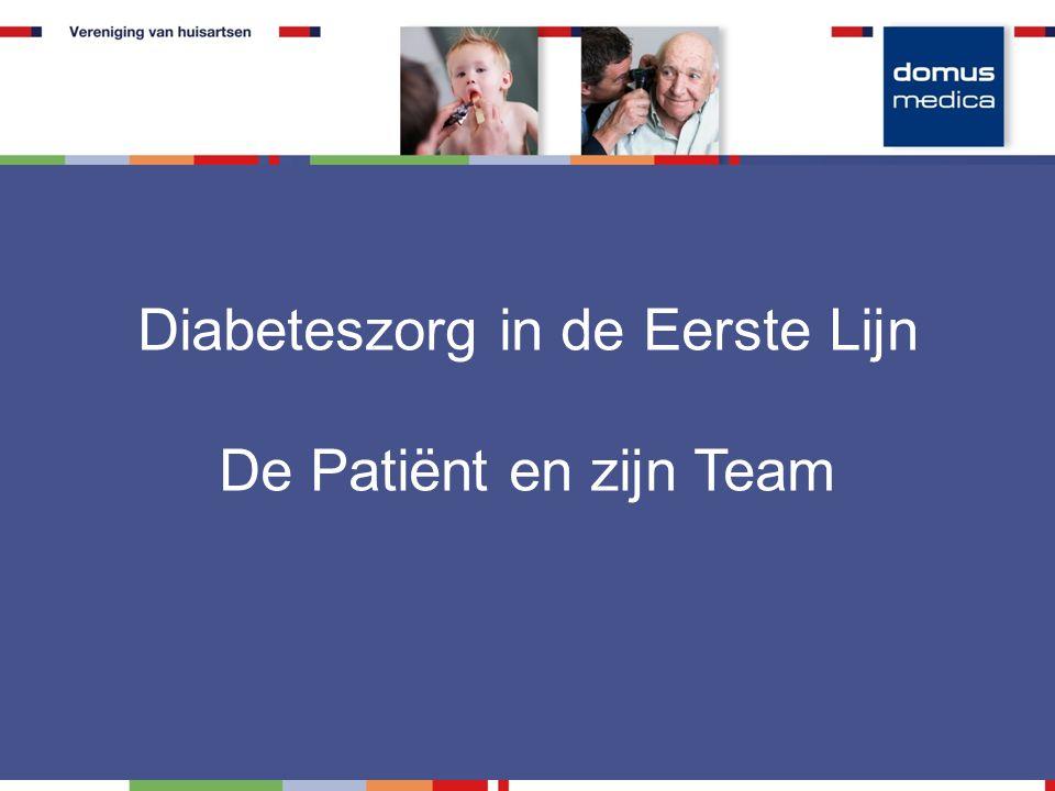 Diabeteszorg in de Eerste Lijn De Patiënt en zijn Team
