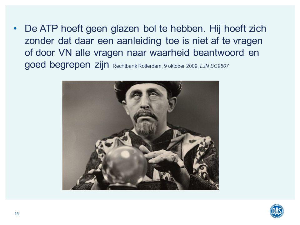 De ATP hoeft geen glazen bol te hebben.