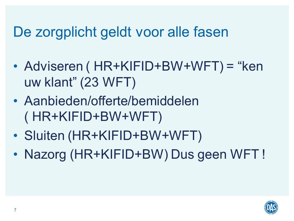 op de hoogte is van de inhoud van de middels hem af te sluiten verzekeringen en de bijbehorende algemene voorwaarden Rechtbank Rotterdam, 20 september 2006, LJN AY9186 WFT 4:19, 20 en 21.