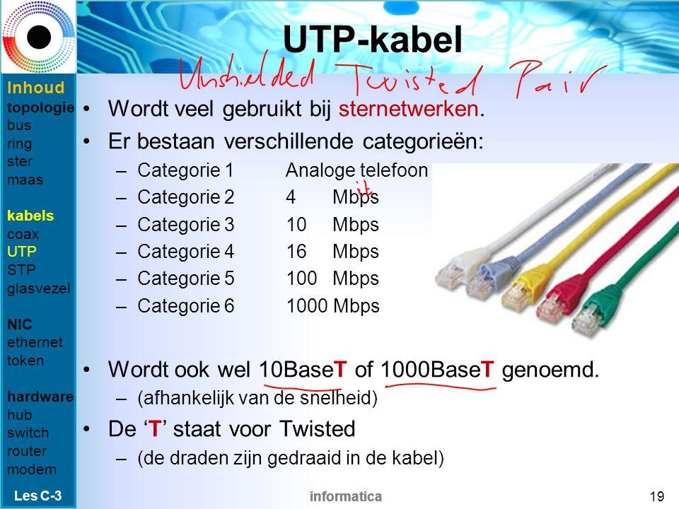 informatica Coaxkabel Gegevens worden verstuurd als stroomsignalen over een kern in de kabel.
