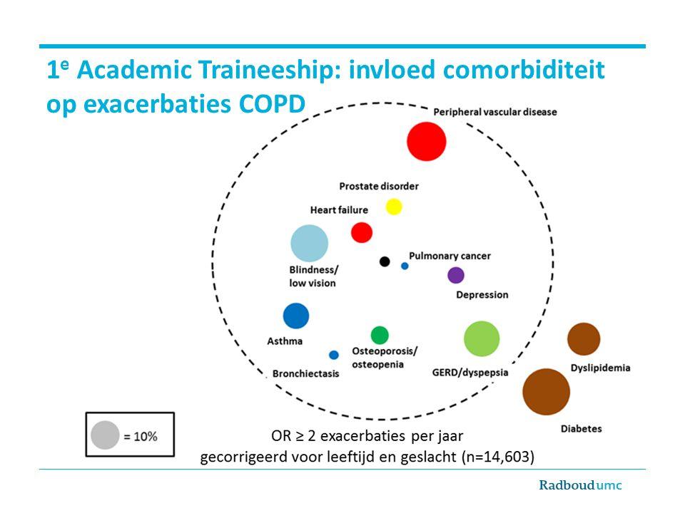 1 e Academic Traineeship: invloed comorbiditeit op exacerbaties COPD