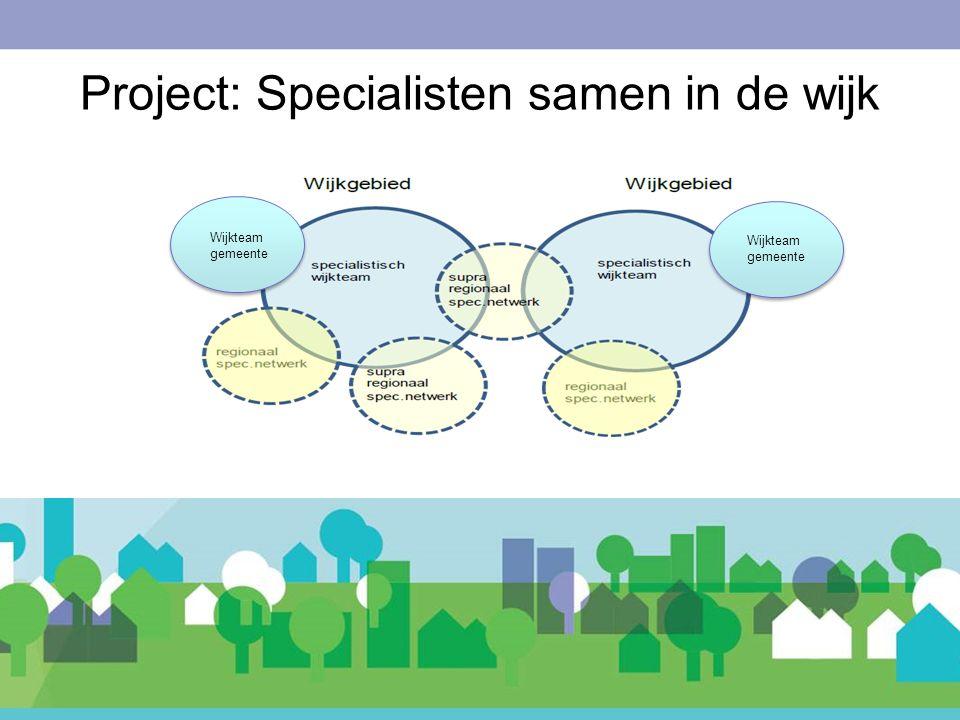 Wijkteam gemeente Project: Specialisten samen in de wijk