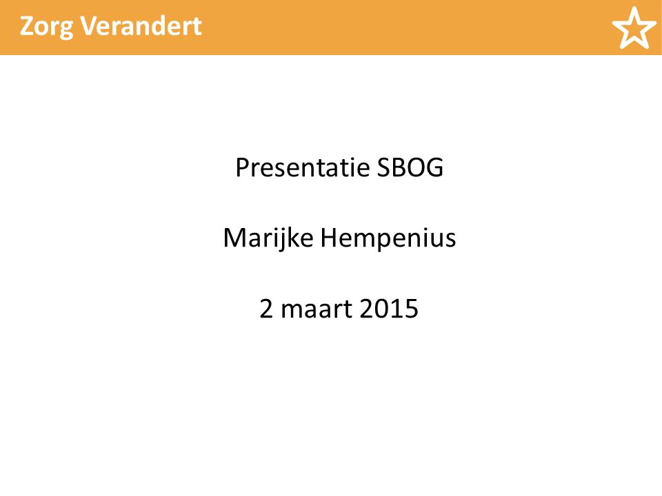 Presentatie SBOG Marijke Hempenius 2 maart 2015