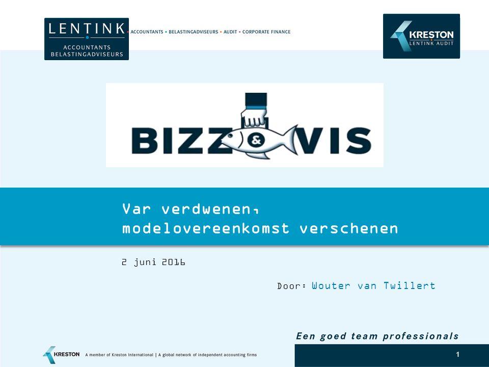 Logo klant 1 Var verdwenen, modelovereenkomst verschenen 2 juni 2016 Door: Wouter van Twillert