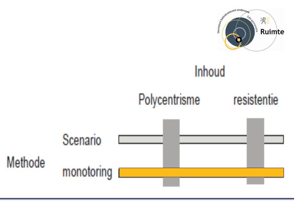 Onderzoeksopzet : monitoring Coherentie tussen onderzoekslijnen en ruimtelijke processen op verschillende niveaus