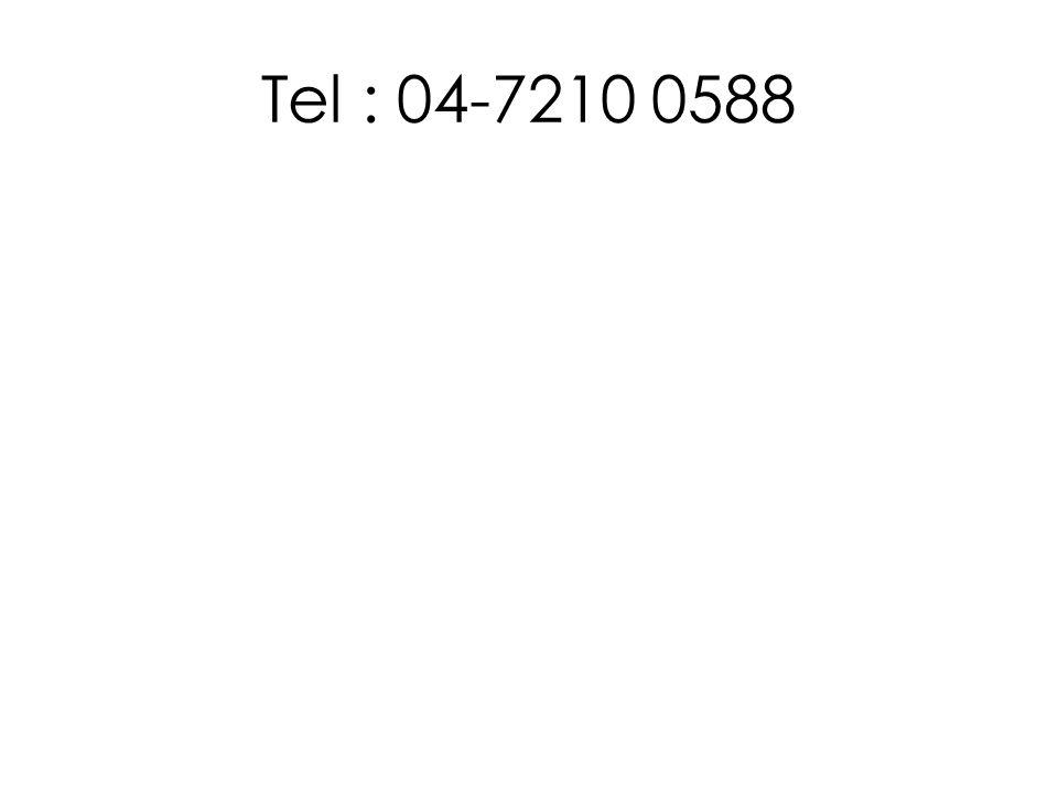 Tel : 04-7210 0588