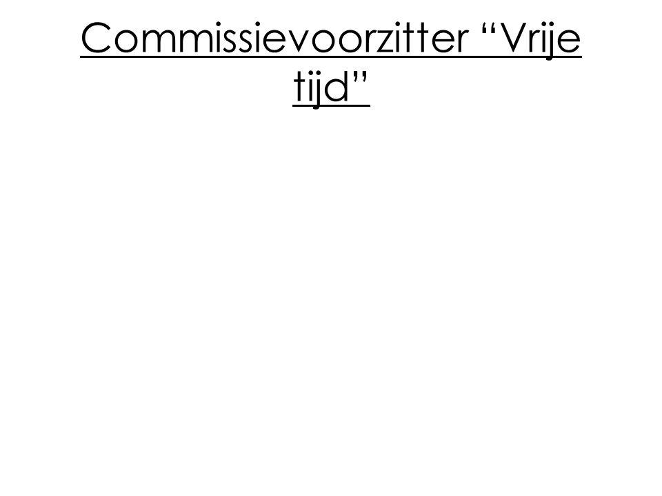 Commissievoorzitter Vrije tijd