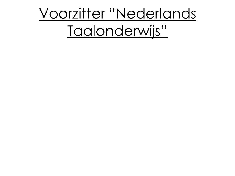 Voorzitter Nederlands Taalonderwijs