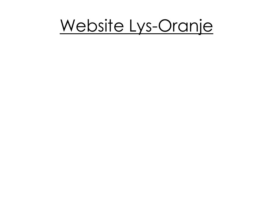 Website Lys-Oranje