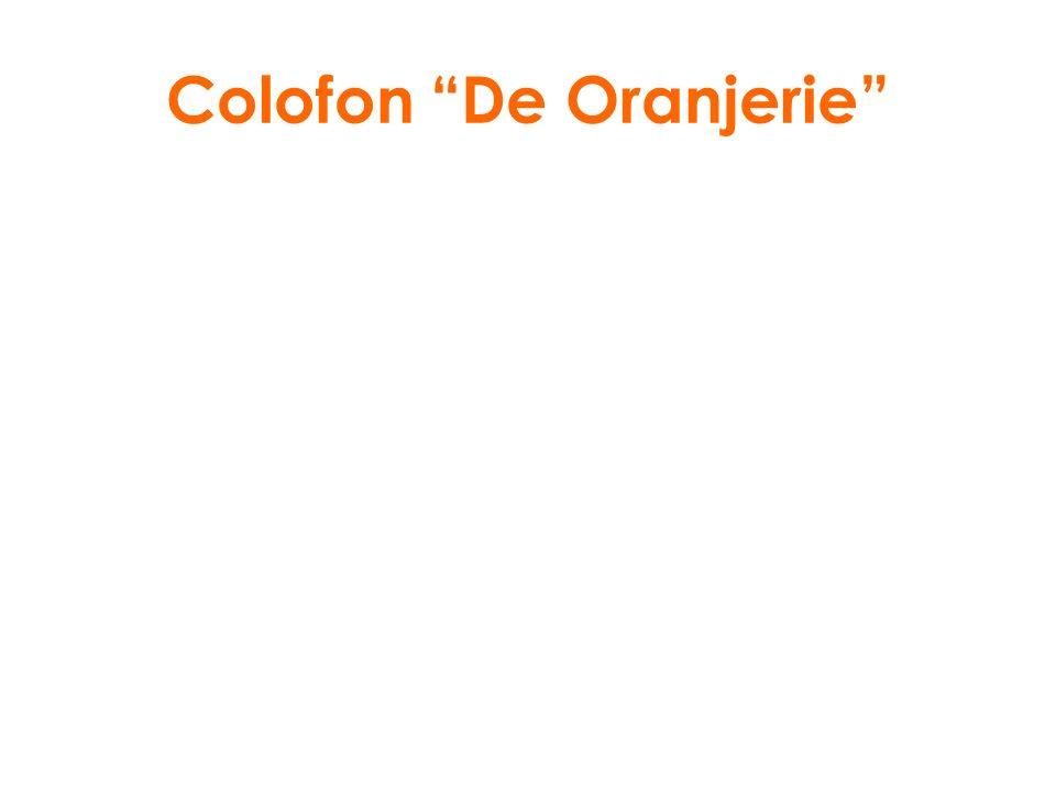 Colofon De Oranjerie