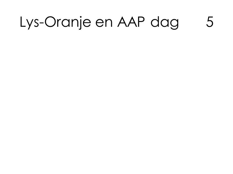 Lys-Oranje en AAP dag5