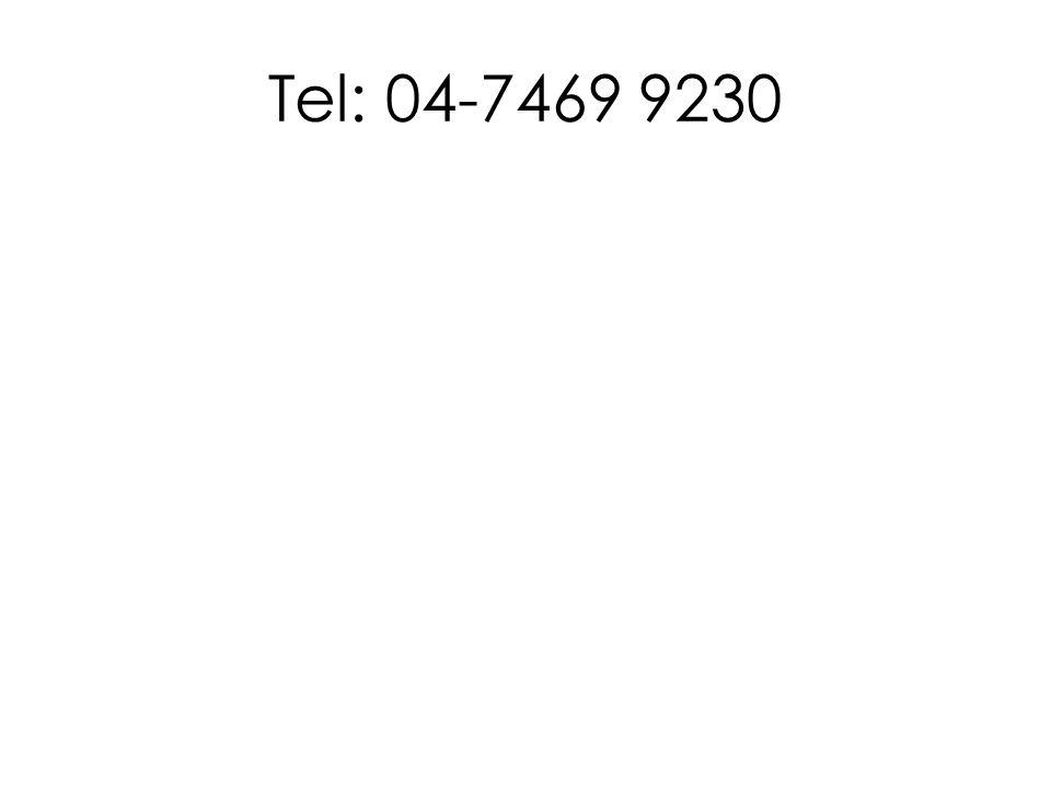 Tel: 04-7469 9230