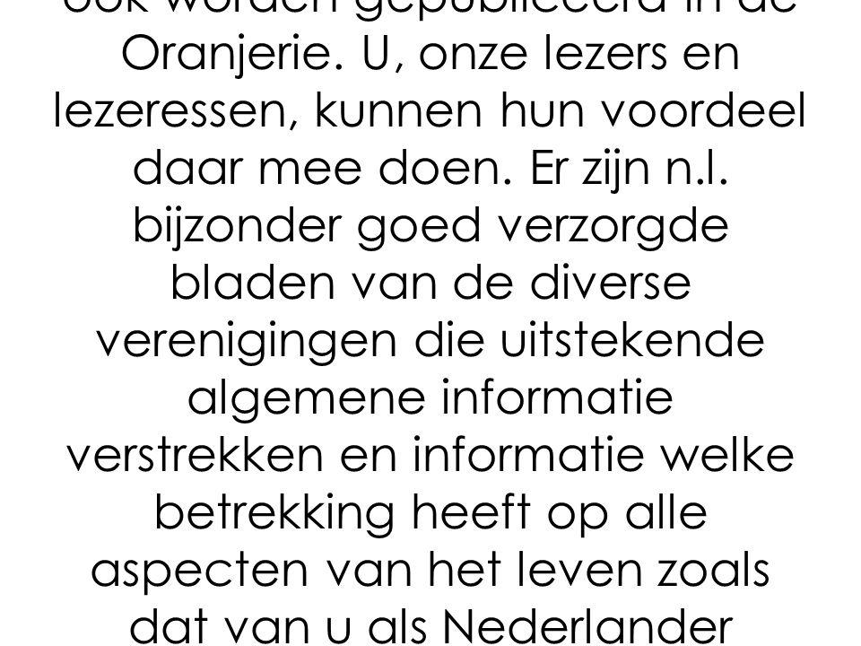 Er zal overleg komen tussen de hoofdredacteuren van de bladen welke door de Nederlandse Verenigingen in Frankrijk worden gepubliceerd.