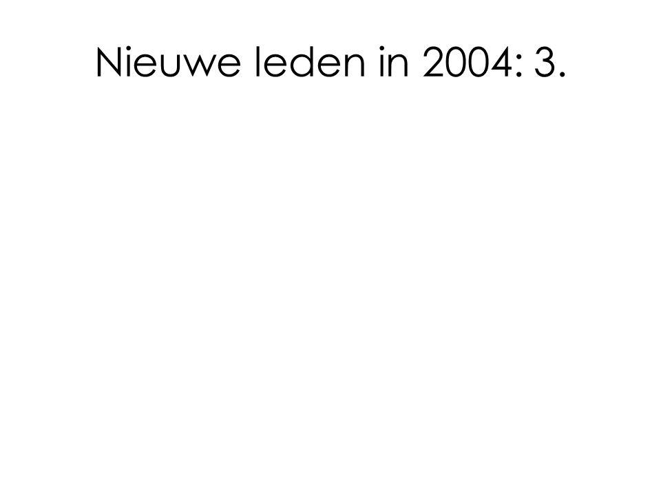 Nieuwe leden in 2004: 3.