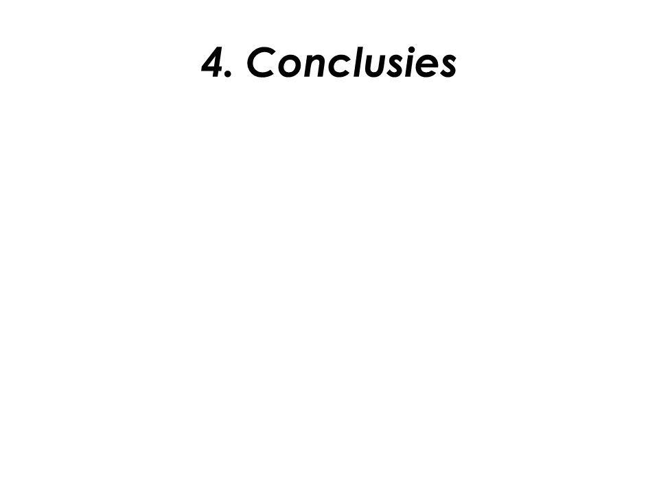 4. Conclusies