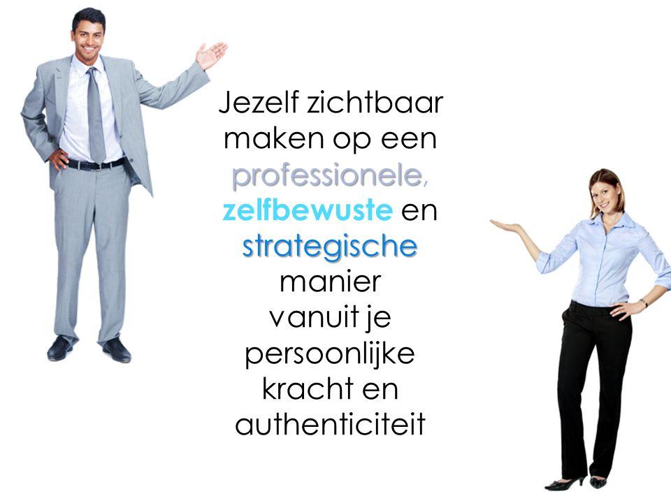 Jezelf zichtbaar maken op een professionele professionele, strategische zelfbewuste en strategische manier vanuit je persoonlijke kracht en authenticiteit
