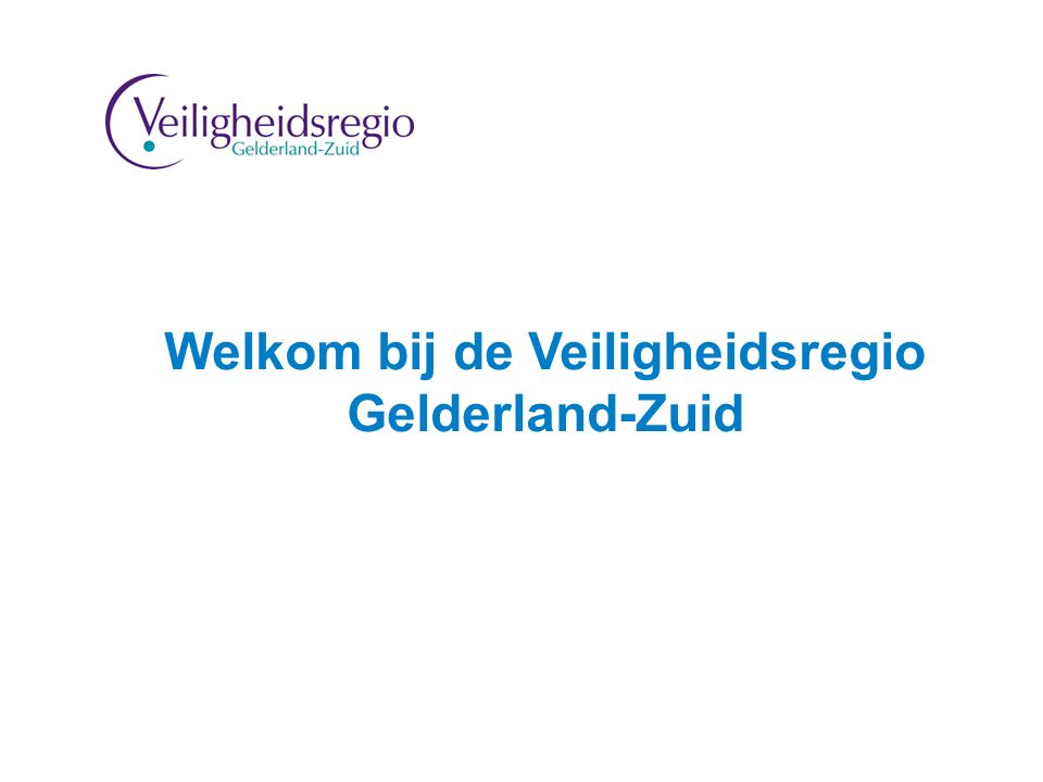 2 Welkom bij de Veiligheidsregio Gelderland-Zuid