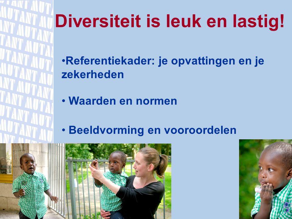 Diversiteit is leuk en lastig! Referentiekader: je opvattingen en je zekerheden Waarden en normen Beeldvorming en vooroordelen www.mutant.nl