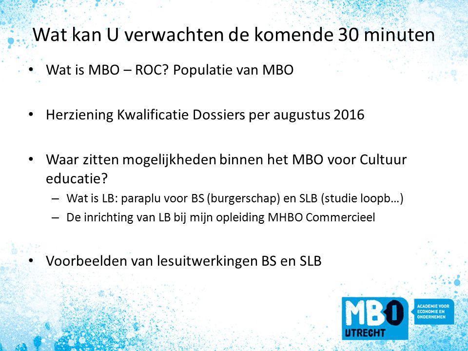 Wat kan U verwachten de komende 30 minuten Wat is MBO – ROC.