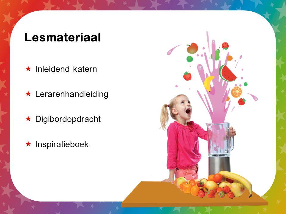 Lesmateriaal  Inleidend katern  Lerarenhandleiding  Digibordopdracht  Inspiratieboek