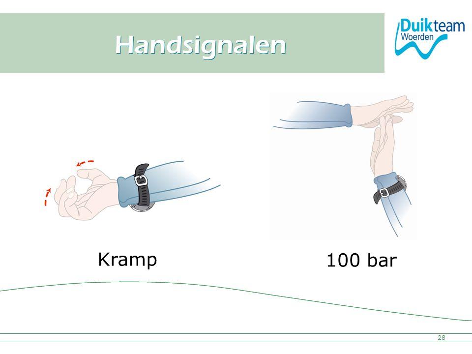 Nederlandse Onderwatersport Bond Handsignalen 28 Kramp 100 bar