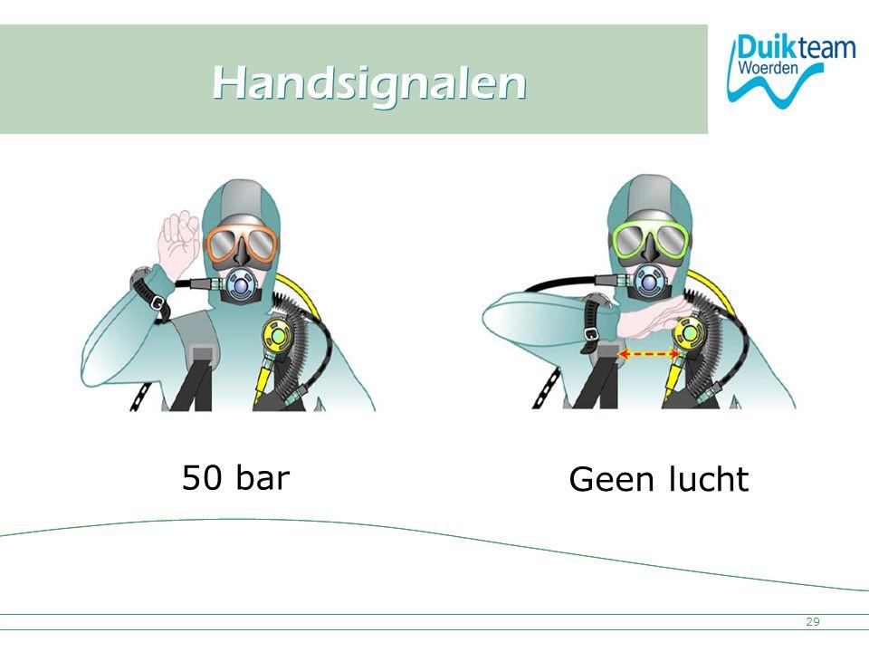 Nederlandse Onderwatersport Bond Handsignalen 29 50 bar Geen lucht